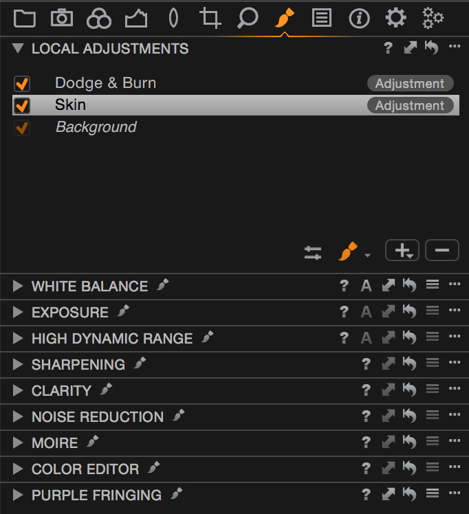 Local Adjustments in Capture One Pro 8.1.1